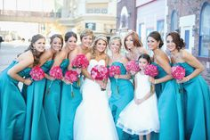 Breathtaking Atlantic City, New Jersey wedding. Fuchsia and teal make these gorgeous photos pop! Congratulations Heather and David! #NJ #NJBride #RealWeddings