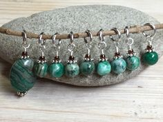 What does your perfect knitting day look like? Is it a day with flawless rows and lots of progress? You can have the perfect day with snag free stitch markers. The green agate stitch marker set will h
