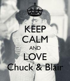 Gossip Girl Chuck and Blair Keep Calm