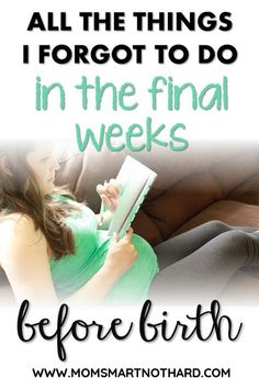 How can I make these final weeks of the third trimester count? What might I have forgotten to do when it comes to preparing for birth and life with a newborn? Last Week Of Pregnancy, Pregnancy Months, 31 Weeks Pregnant, Pregnant Mom, Pregnancy Checklist, Pregnancy Tips, Before Baby, After Baby, Lamaze Classes