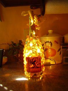 wine bottle lamp