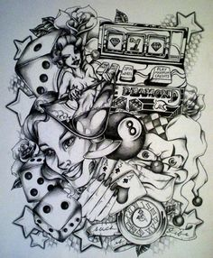 Pin Gambling Tattoos Life Is A Gamble Tattoo Designs Images on ...