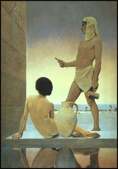 "Maxfield Parrish's ""Egypt"" (1902).  The source for another one of Gray Prindle's performance art ""tableaux,"" this one staged with his elder sister Caroline ""Bijoux"" Prindle."