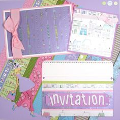 Scrapbook for a baby shower...