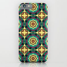 Geometric kaleidoscope with star shapes iPhone & iPod Case