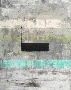 "Saatchi Art Artist Roger König; Painting, """"S4 abstract Black Center"""" #art"