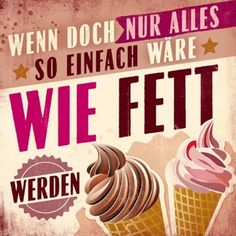 HOMEMADE IN HAMBURG Kühlschrankmagnet Fett werden Ecommerce Solutions, Status Quotes, Vintage Postcards, Sarcasm, Quotations, Have Fun, Funny Pictures, Funny Quotes, Jokes