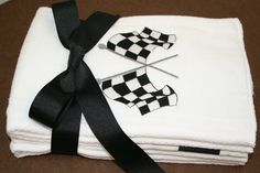 RACING ThEMED BURP CLOTHs Baby Boy Gift SETof 3 by CupcakesCottage, $15.00