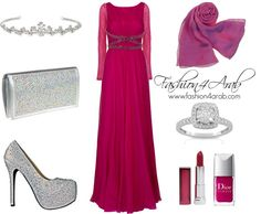 """Princess in Rose"" by fashion4arab ❤ liked on Polyvore"