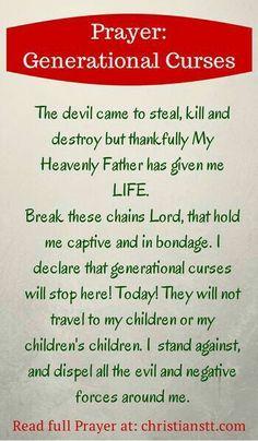 Prayer: Break Free from Generational Curses
