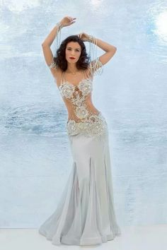 White bellydance costume - This is amazing. I need to find where this came from... if anyone has the link, much obliged!