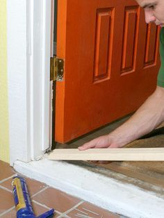repair design Dont wait for someone to trip over your rotting entry to revamp your front door. Learn how to install a new door threshold and sill in just a few hours. Home Renovation, Home Remodeling Diy, Basement Remodeling, Bathroom Remodeling, Home Improvement Projects, Home Projects, Diy Home Repair, Up House, Home Repairs
