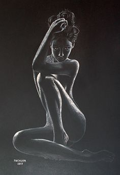 Sitting nude from the front (white chalk on black cardboard) Source link Sexy Drawings, Art Drawings, Black Paper Drawing, Body Art Photography, Portrait Photography, Black Artwork, Black Women Art, Art Abstrait, White Art