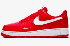 Official Images: Nike Air Force 1 Low Mini Swoosh University Red
