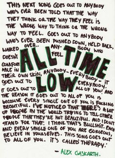 Alex Gaskarth, All Time Low