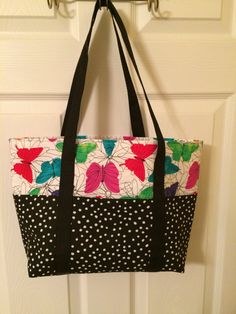 My butterfly and polka dot bag is available on Etsy.