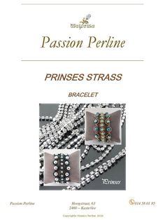 Pattern bracelet PRINSES by PASSIONPERLINE on Etsy