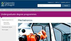 Mechatronics - Undergraduate degree programmes - University of Glasgow