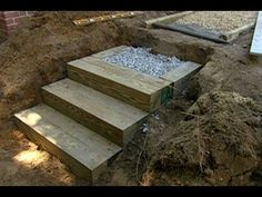 How to Build Steps With Landscape Timbers - This Old House .... need to do this with the sloping back yard!