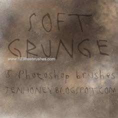 Soft Grunge - Download  Photoshop brush http://www.123freebrushes.com/soft-grunge-4/ , Published in #GrungeSplatter. More Free Grunge & Splatter Brushes, http://www.123freebrushes.com/free-brushes/grunge-splatter/   #123freebrushes