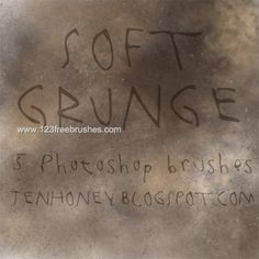 Soft Grunge - Download  Photoshop brush http://www.123freebrushes.com/soft-grunge-4/ , Published in #GrungeSplatter. More Free Grunge & Splatter Brushes, http://www.123freebrushes.com/free-brushes/grunge-splatter/ | #123freebrushes