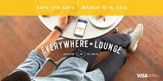 Join Us at Visa's Everywhere Lounge in Austin! Every March, Austin hosts the largest interactive conference of the year. Thousands of the smartest minds around the globe from digital, social and mobile come together to network, learn and discuss the latest trends. This year Visa is hosting a series of events during this interactive conference in Austin in a space we're calling the Everywhere Lounge. The Lounge will be open daily where you can experience Visa mobile commerce with Apple Pay…