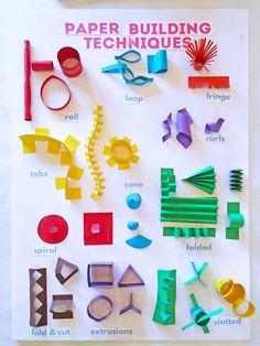 Setting up a cardboard art activity for kids Art For Kids, Crafts For Kids, Art Activities For Kids, Sculpture Techniques, Cardboard Art, 3d Paper Art, Paper Paper, Paper Toys, Kindergarten Art
