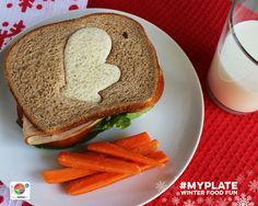 Make half your grains whole with this cute idea. Sure to make someone in your life smile! #MyPlate #FoodFun