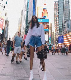 Last Sunday at Times Square ✨ #flashback #streetstyle #nyc