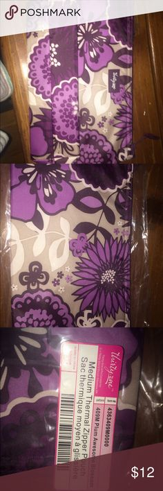Thirty One purple medium thermal zip top bag. Plum Awesome Blossom Thirty One bag thirty one Bags Cosmetic Bags & Cases