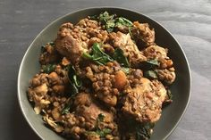 Reader recipe: Chicken with lentils and spinach