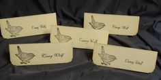 Little Bird Wedding Place Setting Cards Escort Cards Personalized. $1.00, via Etsy.
