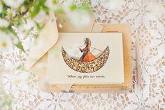 Valentine's Day Wood card  Joy for two  I Love You by COZYWOODshop, $7.50