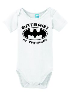 Batbaby In Training funny baby onesies are bring smile to everyone. soft cotton babies onesie body suit baby romper w/ snap closures Batman Baby Clothes, Baby Batman, Cute Baby Clothes, Batman Clothing, Baby Shirts, Onesies, Batman Outfits, Baby Bath Time, Bebe
