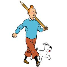Tintin and his pencil // now i see why he never gets much writing done