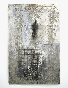 Anselm Kiefer, Symeon, der Stylit, 2007 Gouache and sand on photography