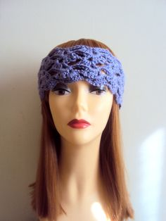 Crochet Lace Lavender Headband Yoga Headband Boho Headband Crochet Collar Festival Headband Bridal Headband Women Hair Accessories