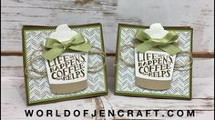 Coffee Cafe, Coffee Cup Framelits, Coffee Break DSP, World of JenCraft, Gift Bag, Stampin' Up!