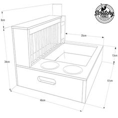 4-in-1 complete solution for bunnies/rabbits Solid birch plywood feeder with integrated hay holder, food bowls, drinking bottle and litter pan Wood is coated with protective non toxic food grade water based lacquer for maximum durability and longevity. Absolutely glue free construction