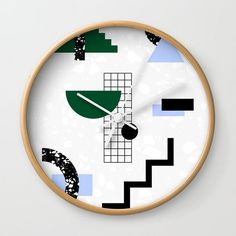 Time graphic wall clock by Hanna Kastl-Lungberg