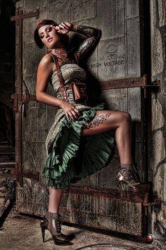 Vintage Fashion NL- dress in style Viktorianischer Steampunk, Steampunk Couture, Steampunk Fashion, Steampunk Cosplay, Death Metal, Cyberpunk, Rockabilly, Fashion Art, Vintage Fashion