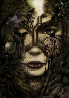 Amazing steampunk art – if anyone knows the artist, do let me know.