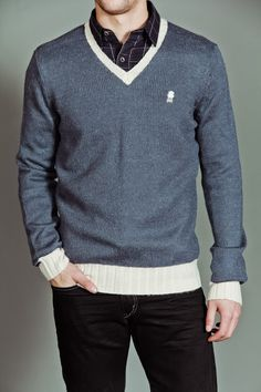 Brooklyn Industries Winter Time V-Neck Sweater Shale