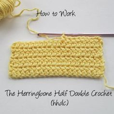 Great tutorial on the Herringbone Half Double Crochet Stitch via Crochet Nirvana