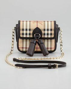 Burberry Haymarket Check Mini Chain Crossbody Bag 86a4b2f78e07d