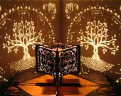 Decorative Ambient Lasercut Wooden Tree of Life Shadow Lamp for romantic…