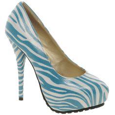 Sugarfree Lina Zebra Print Shoe ($36) ❤ liked on Polyvore