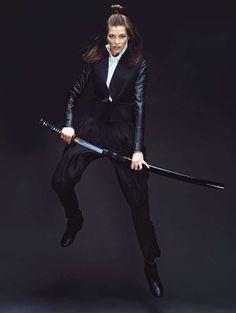 Sword-Fighting Photoshoots - The Stolnick Magazine February 2013 Editorial Stars Yulia Kharlapanova (GALLERY)