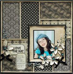 Great for using up scraps and vintage layout
