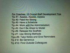 10 tips for coaches